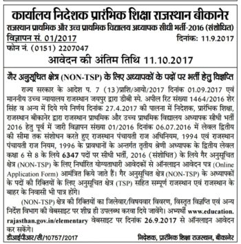 Revised full Notification for 3rd Grade Teacher Requirement 2016 (Level-2) non tsp